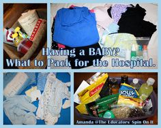 Packing Your Bags for Labor and Delivery from The Educators' Spin On It