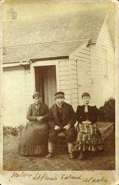 Aleut family at St. Paul's Island, Alaska - circa 1880