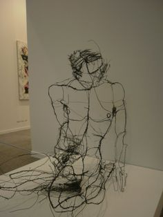 Wire sculptures by David Oliveira