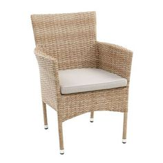 Capri Sand Woven Dining Chair with Cushion Woven Dining Chairs, Outdoor Dining Furniture, Patio Chairs, Outdoor Chairs, Kitchen Furniture, Swing Chairs, Arm Chairs, Outdoor Living, Accent Chairs