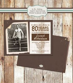 Customized Photo Birthday Invitation  by StaciasDesignStudio