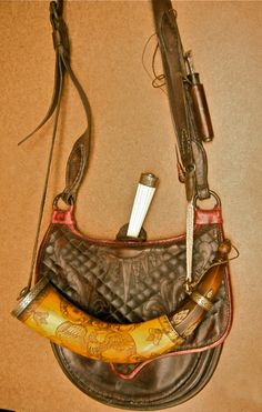 Bag, horn, knife, and measure by Jud Brennan