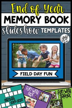 End of Year Memory Book Preschool Memory Book, Preschool Ideas, End Of Year Activities, Summer Activities, End Of School Year, Kindergarten Fun, Memory Books, Student Gifts, Add Music
