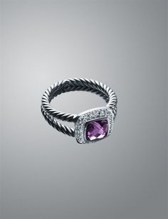 Such a STUNNING David Yurman Amethyst Ring! Perfect for February princesses! Or if your favorite color is purple...