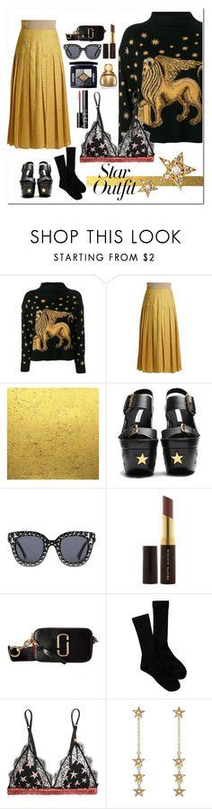 """stars stars stars"" by katymill ❤ liked on Polyvore featuring Alberta Ferretti, Fendi, STELLA McCARTNEY, Gucci, Kevyn Aucoin, Marc Jacobs, Pendleton, LoveStories, Jennifer Meyer Jewelry and NARS Cosmetics"