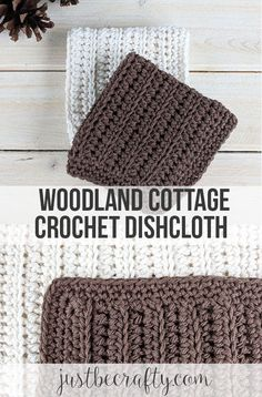 Free crochet dishcloth pattern by Just Be Crafty Crochet Square Patterns, Dishcloth Knitting Patterns, Knitted Dishcloths, Crochet Placemats, Crochet Potholders, Crochet Towel, Crochet Granny, Quick Crochet, Free Crochet