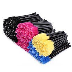 KEDSUM 300pcs Multicolor Disposable Mascara Wands Eyelash Applicators Eye Lash Brush Eyebrow Applicator Makeup Brushes Kit ** See this great product.