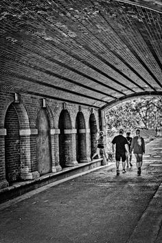 If you live or visit Manhattan you know that Central Park is a fun place to go on Sunday. This is under one of the bridges near the south end of the park. You could just stand in one place all day and get all sorts of interesting shots. But hopefully you don't go to New York hoping to get pictures without people. I suppose you could shoot architecture, but mostly it's about the people and what they do, and in NYC people do everything.