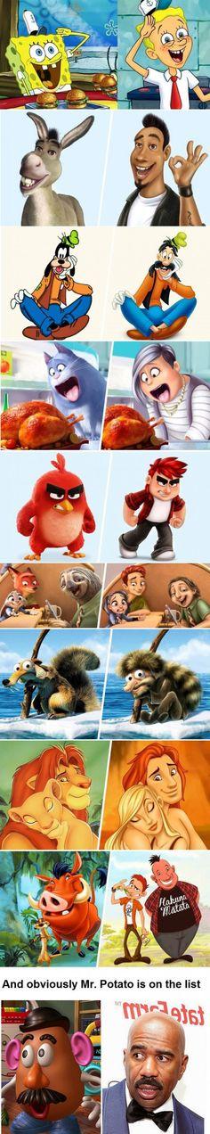 How would cartoons look like as people