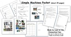 Science: Free Simple Machines Printable Packet - 25 pages