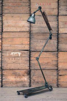 tall industrial garage lamp