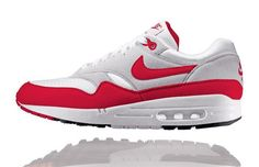 Air Max 1  Year Introduced: 1987  The Nike Air Max stands as Nike's ultimate achievement, one of the most successful cases of form dictating function in sneaker history. As the Air bag grew bigger, designer Tinker Hatfield was faced with a problem - how to fit the larger Air into the traditional foam midsole? A trip to Paris, and a look at the Centre Georges Pompidou, gave him an idea. Why not cut the foam away to expose the Air? The Centre Pompidou exposed all of what was normally hidden…