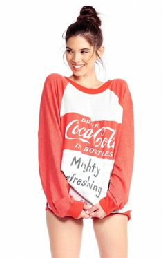 Ladies Coca Cola Mighty Refreshing Kims Sweater From Wildfox  456dbbf5f