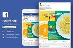 Food & Beverage facebook Post Banner by Design Up on @creativemarket