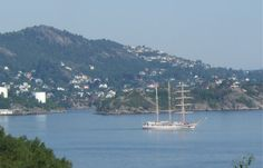 """""""Tall Ship Race"""" in Bergen this year - the first ships arrived yesterday - several are arriving during today - lovely to watch from the terrace in this beautiful weather we´re having at the moment :) """"Margeritten"""" by IJ 24.7.14"""