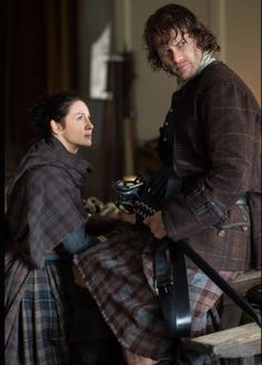 Claire (Caitriona Balfe) and Jamie Fraser (Sam Heughan) in Episode 212 of Outlander Season Two on Starz