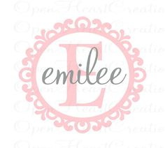 Personalized Name Wall Decal  elegant by openheartcreations, $39.00