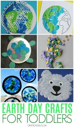 Easy Earth Day crafts for toddlers and preschoolers #kidscrafts #earthday