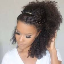 Image result for high pony half up half down curly