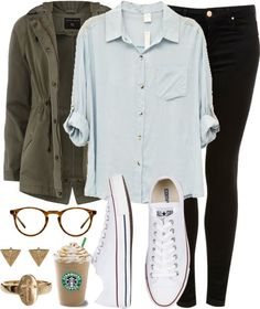 I wouldn't have put the coat and the shirt together, but I like it! The Starbucks coffee is a bit obnoxious though haha