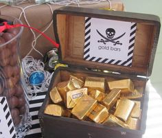 Pirate's Bounty, for a Peter Pan themed dinner or movie night. Pirate Fairy Party, Fairy Birthday Party, Pirate Birthday, 4th Birthday Parties, 5th Birthday, Birthday Ideas, Princess Birthday, Geek Birthday, Pirate Theme