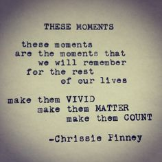 Chrissie Pinney These Moments.