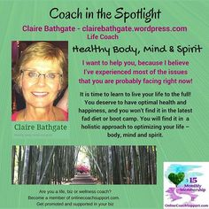 Claire offers individual wellness and life coaching as you need it.  That means, if you just need one session with her, that's all you commit to! This can be done over a cuppa if you live on the beautiful Central Coast of NSW, or otherwise, via Skype or phone.  If you feel that she is the one to help you achieve your health and life goals, please contact her for a confidential chat!  For further info check out Claire's website at https://clairebathgate.wordpress.com/. #clairebathgate…