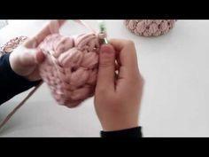 Penye ipten kulplu sepet yapımı ( küçük fıstık modelli sepet yapımı) - YouTube