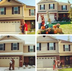 Pictures in front of your home each season!