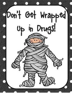 """Are you expected to implement a Red Ribbon Week Unit for your school on an extremely small budget? Then here is just what you need....  The theme of this Red Ribbon Week collection is """"Don't Get Wrapped Up in Drugs""""  This download includes: -8 Halloween Themed Printable Posters -Printable Front & Back Bookmarks  -Halloween Themed Crossword Puzzle -Halloween Themed Word Search - 2 Writing Prompts"""