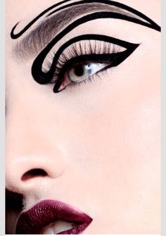Playing with eyeliner