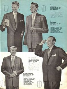 Men's Suits, Sears, 1956-57.