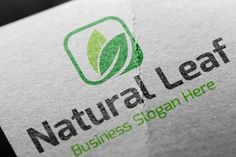 Natural Leaf Logo by BdThemes on @creativemarket