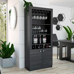 Looking for Kowalczyk Bar Cabinet Ebern Designs ? Check out our picks for the Kowalczyk Bar Cabinet Ebern Designs from the popular stores - all in one. Wine Bar Cabinet, Wine Cabinets, Bar Cabinets For Home, Wine Hutch, Wine Rack Bar, Drinks Cabinet, Bar Furniture, Furniture Deals, Cabinet Furniture