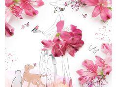 ilustração com flores17