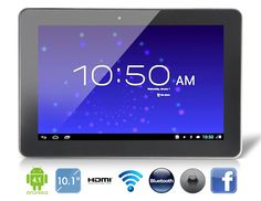 Ainol Novo 10 Hero Android Dual Core Tablet PC with External Bluetooth, HDMI Playback, Capacitive IPS Touch (Black) - A tablet PC with android system is gr 10 Inch Android Tablet, Ipad Tablet, Android 4, Buy Smartphone, Vr Headset, Smart Bracelet, Sd Card, Cell Phone Accessories, Bluetooth