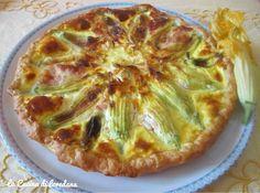 Torta salata con fiori di zucchina ripieni