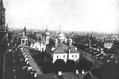 Утраченные памятники Московского Кремля  Вознесенский монастырь. На переднем плане — Вознесенский собор.