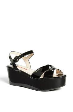 Prada Platform Wedge Sandal available at #Nordstrom