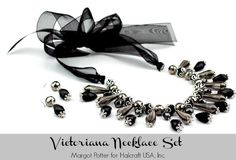 DIY Victoriana Necklace and Earring Set