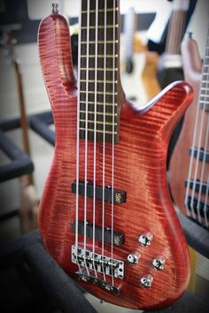 Framus & Warwick  Streamer LX 5 strings Bleached Burgundy Red OFC