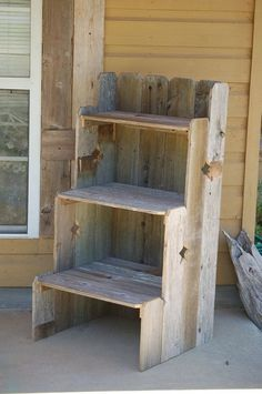 The pallet wood shelving ideas might vary according to your needs and priorities. It depends where exactly you want to install them or how much space you are left with.