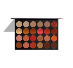 Description Shade Names Ingredients LIMITED EDITION Rock endless looks with 24 crazy-creamy, powerfully pigmented eyeshadows. Day or night, wet or dry, these limited-edition, supes-romantic shades go the distance. Holy chic, your lids will love the variety of stunning textures. From soft and shimmery to amped-up chrome metallic, you can create a jaw-dropping fresh look for any time of the day. And since a Morphe Babe loves to play, we sized these matte and metallic wonders up 2.2x for d...
