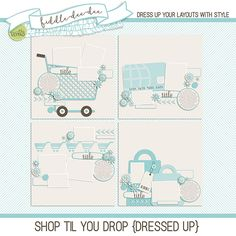 Shop Til You Drop {Dressed Up} by Fiddle-Dee-Dee Designs at the-lilypad.com (bought in Bundle) #digitaltemplates #digitalscrapbooking