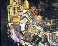 Egon Schiele, Periferia (1918).