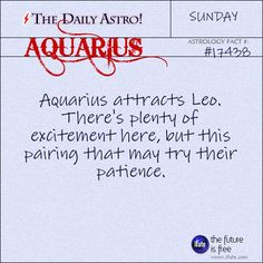 Aquarius Visit The Daily Astro for more facts about Aquarius. There's so much excellent uniquely-aquarius stuff over at the best site for free astrology Aquarius Daily, Taurus Daily, Daily Astrology, Aquarius Traits, Aquarius Love, Aquarius Woman, Capricorn And Aquarius, Capricorn Facts, Aquarius Quotes