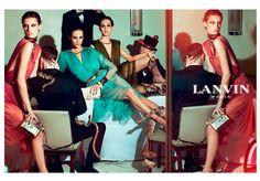 Lanvin SS 2012 /  Models:Aymeline Valade, Marte Mei van Haaster y Othilia Simon /  Photographer : Steven Meisel