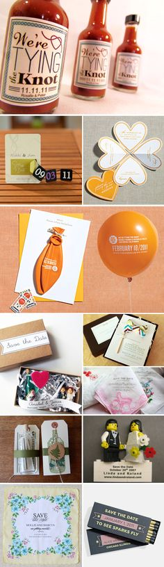 Love these save the date ideas (especially the balloon!)