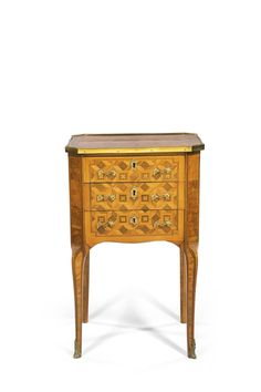 c1765 A tulipwood, kingwood, stained sycamore, burr wood and parquetry writing table Louis XV/XVI Transitional, circa 1765  3,000 — 5,000 GBP 4,571 - 7,619USD LOT SOLD. 7,500 GBP (11,428 USD) (Hammer Price with Buyer's Premium)