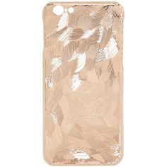 La Mela Luxury Handmade In Italy Women Frozen Rose Gold Plated Iphone... (525 AUD) ❤ liked on Polyvore featuring accessories, tech accessories, phone, phone cases, electronics, cell and rose gold